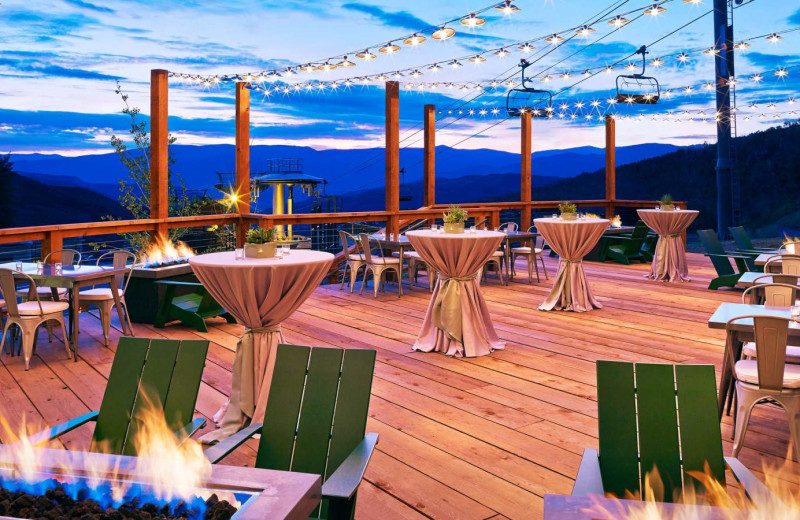 Patio at The Westin Snowmass Resort.