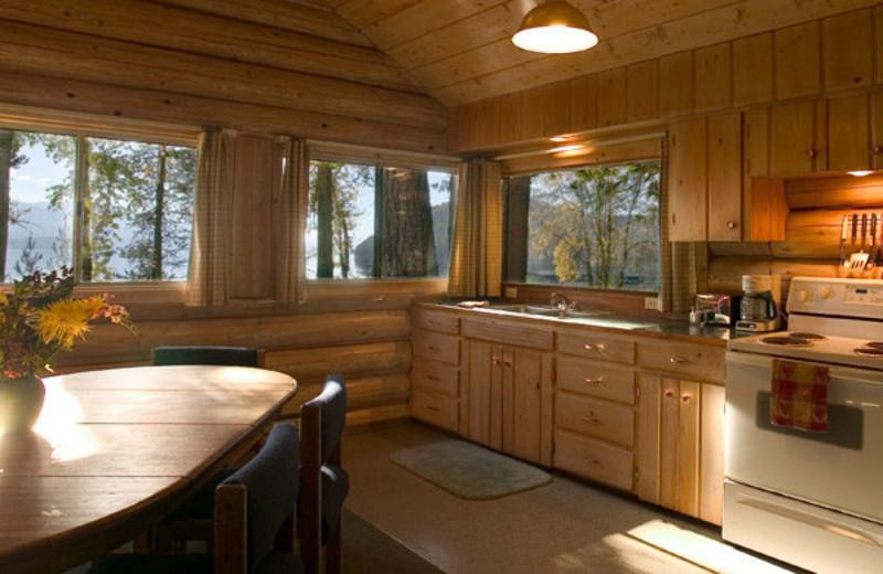 Cabin kitchen at Elkins Resort.