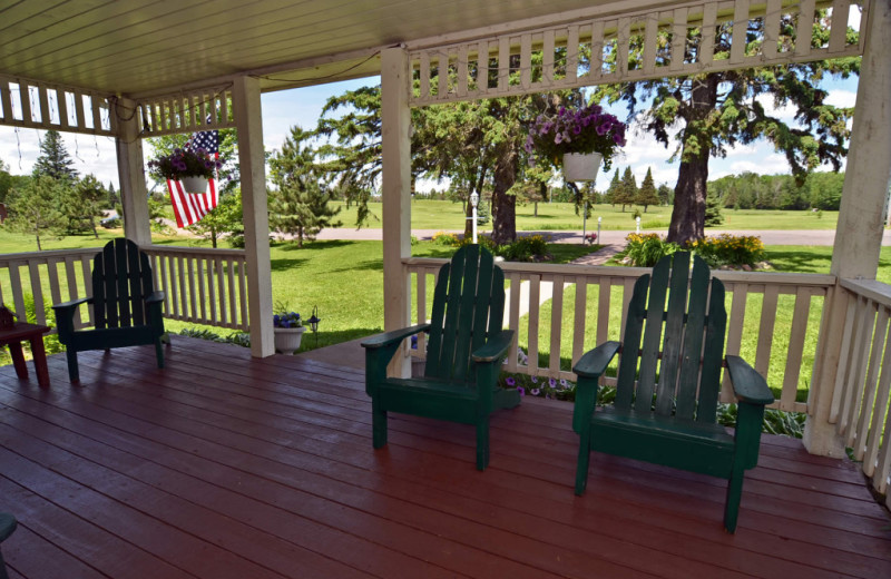 Porch at Barker Lake Lodge.