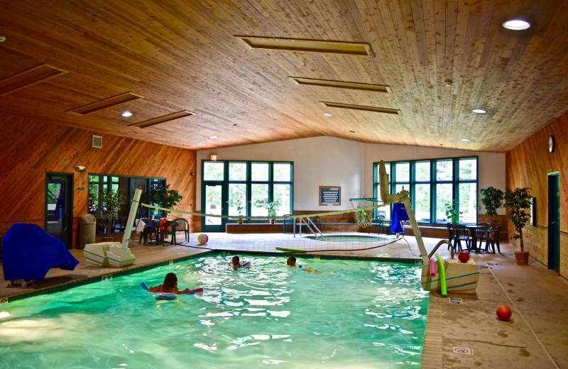 Indoor pool at Whitetail Lodge.