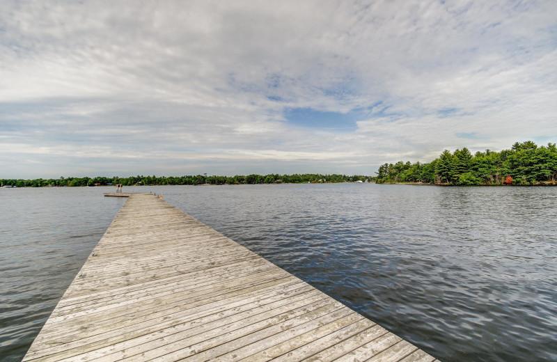 Lake view at Delawana Resort.