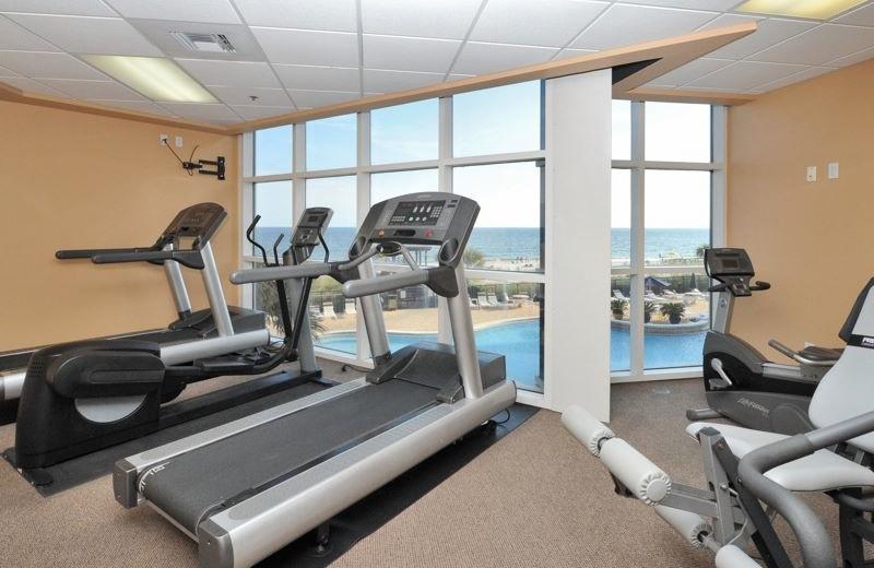 Fitness room at Palacio Perdido Key.