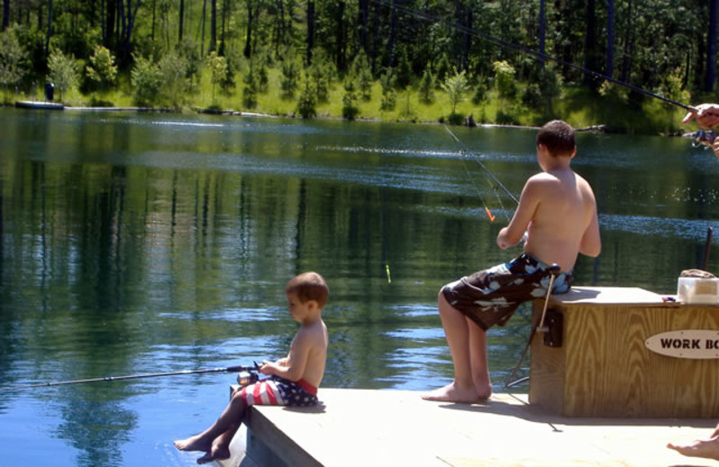 Lake view at Johnson's Millpoint Resort.