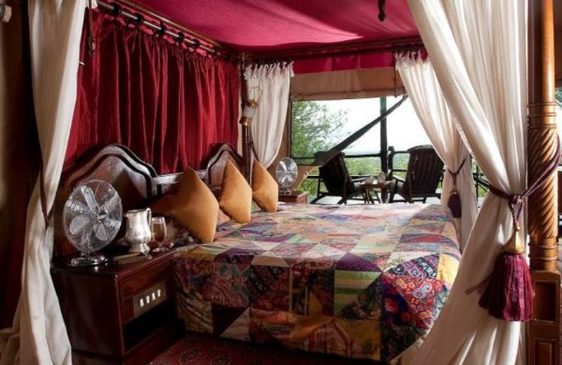 Guest room at Kirawira Camp.