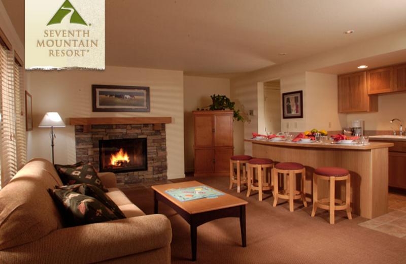 Condo Living Room at Seventh Mountain Resort