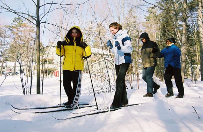 Cross country skiing at Pine Vista Resort.