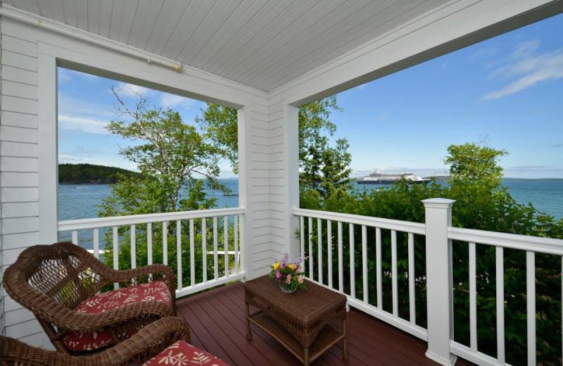 Private balcony at Bar Harbor Inn & Spa.