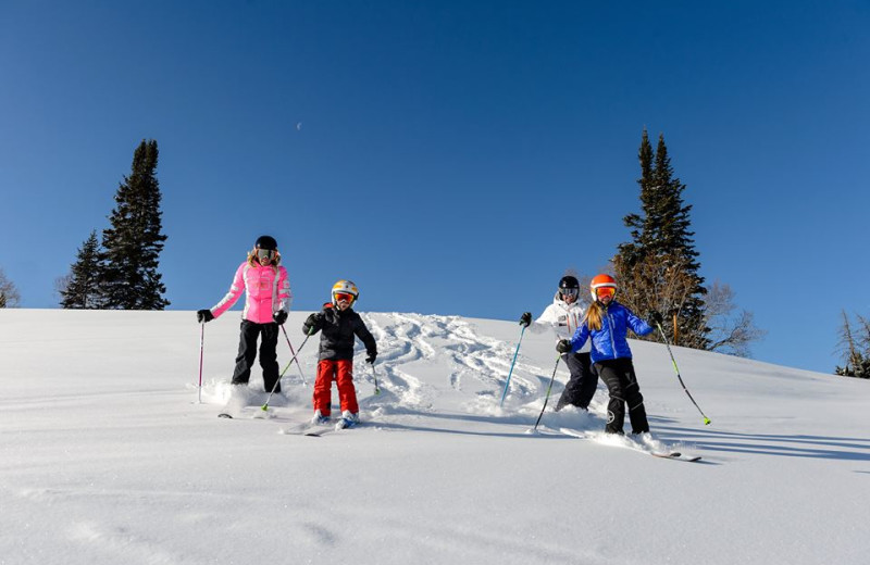 Family skiing at East West Resorts Beaver Creek.