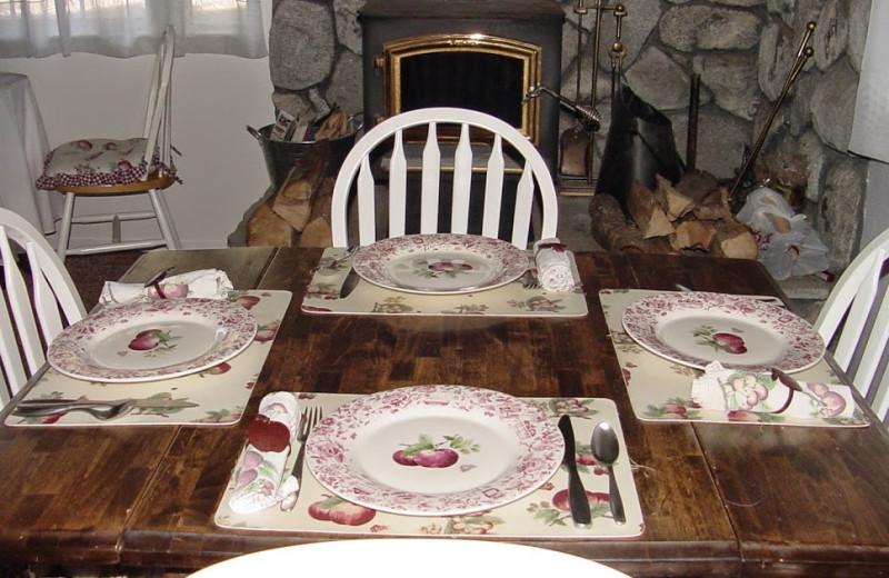 Dining at Apple Blossom Inn Bed & Breakfast.