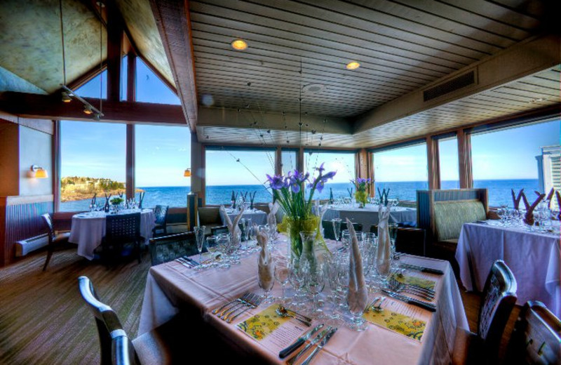 Restaurant at Bluefin Bay on Lake Superior.