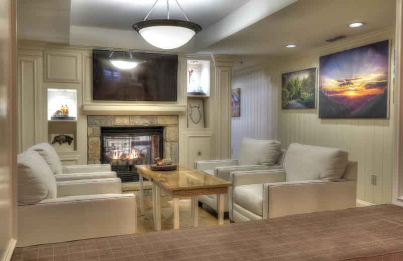 Lobby at The Lodge at Five Oaks.