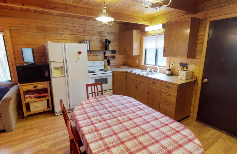 Rental kitchen at Island Park Reservations.