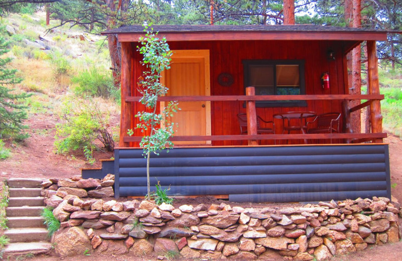 Cabin exterior at Amberwood.