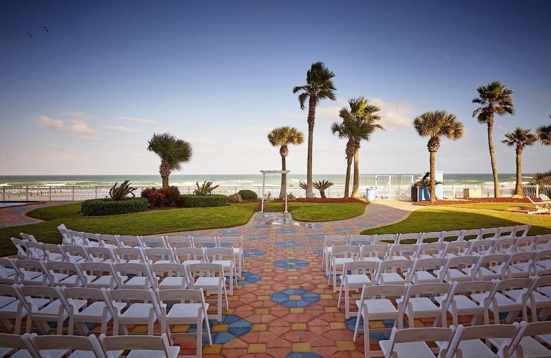Wedding ceremony at Plaza Resort & Spa.