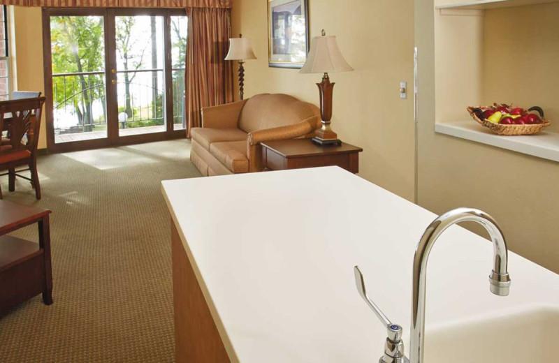 Guest room at Heidel House Resort.