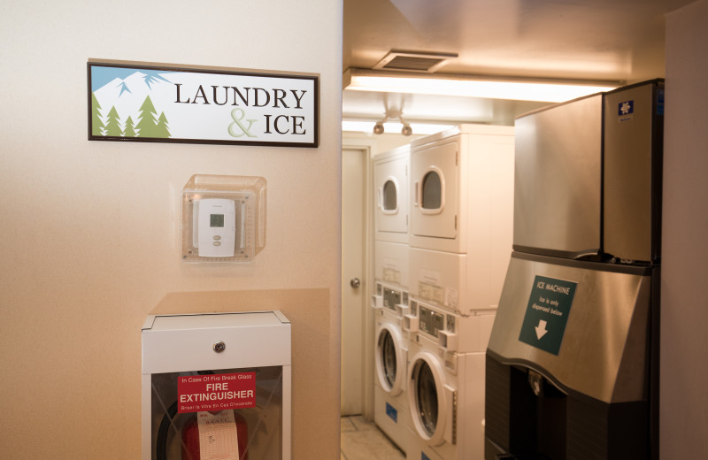 Laundry room at Hidden Ridge Resort.