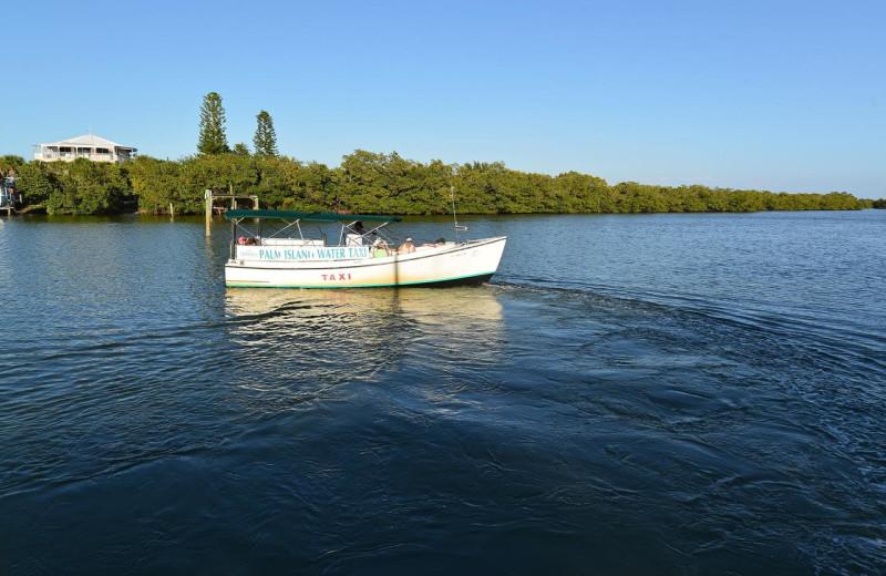 Boating at Palm Island Resort.