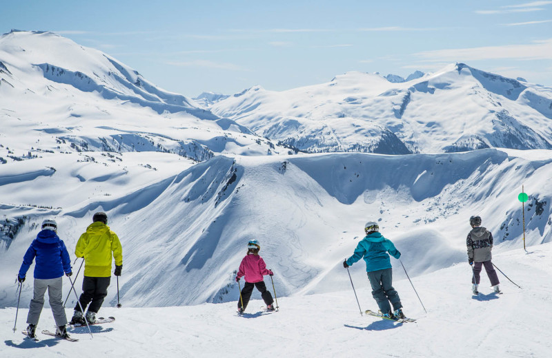 Skiing at Sundial Boutique Hotel.
