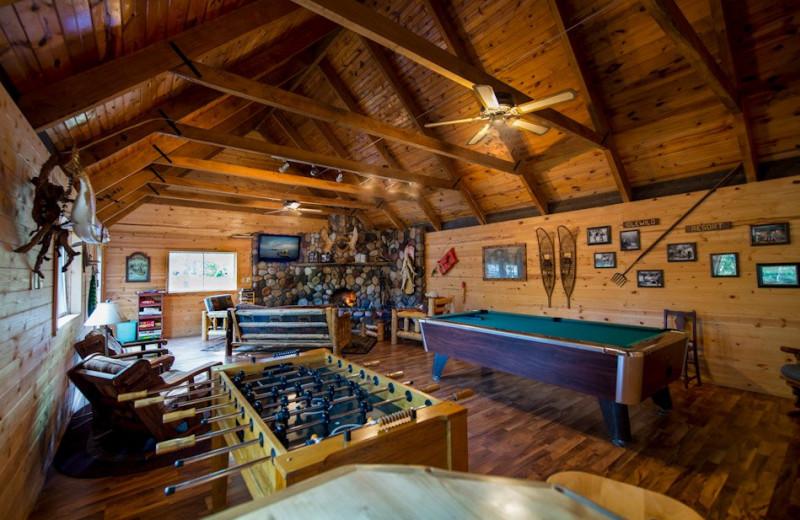Game room at Snyder's Idlewild Resort.
