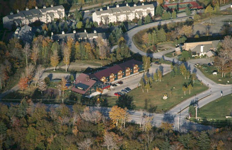 Aerial view of The Mountain Inn.