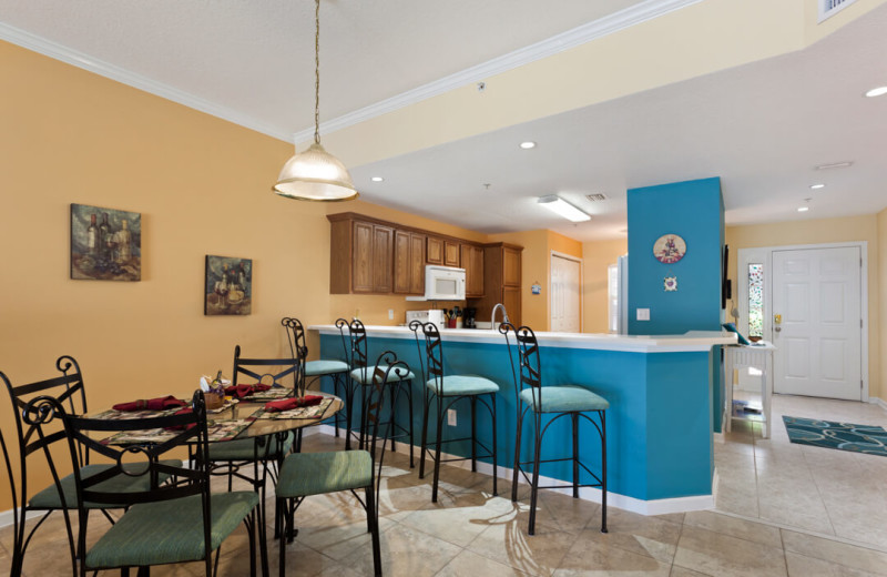 Rental kitchen at Saint Augustine Beach Vacation Rentals.