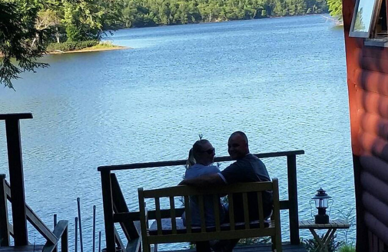 Lake view cabin at Spooky Bay Resort.