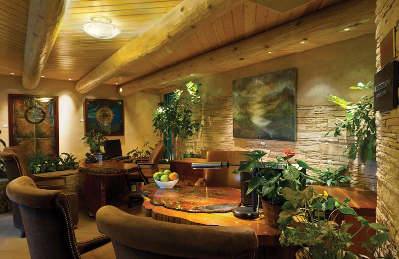 Lobby at El Monte Sagrado.