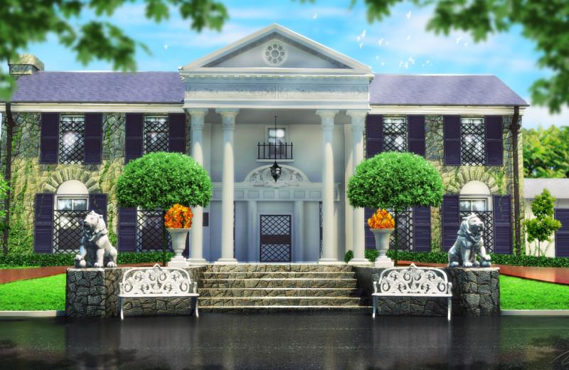 Elvis's mansion at Big Cypress Lodge.