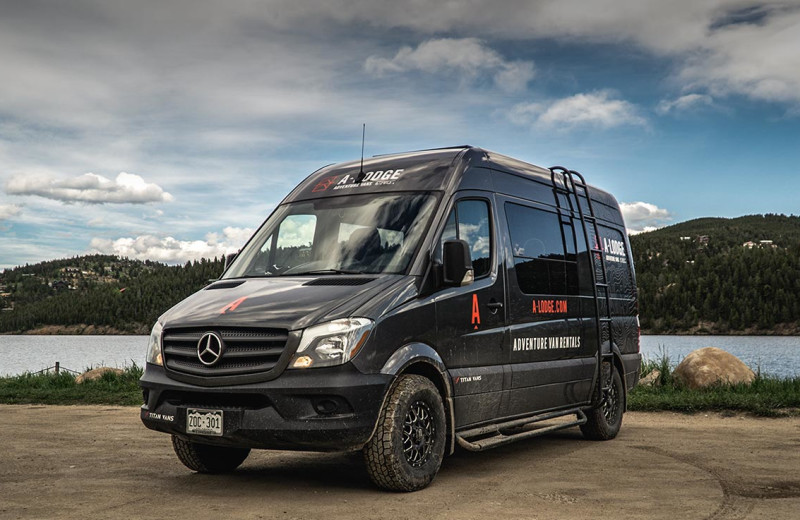 Adventure van at Boulder Adventure Lodge.
