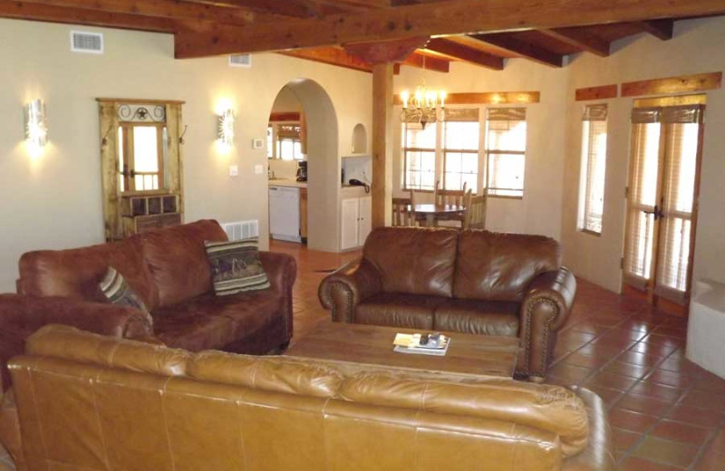 Guest living room at Lajitas Golf Resort.