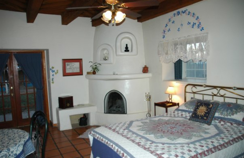 Guest room at Hacienda Vargas Bed and Breakfast.