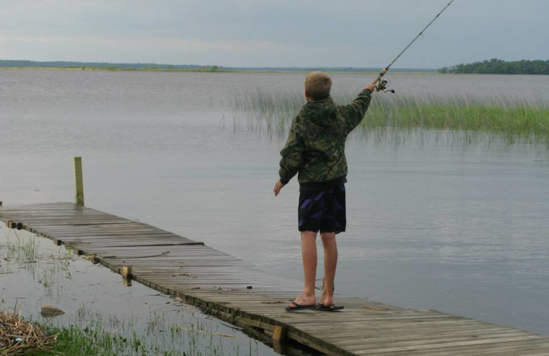 Fishing at Harris Hill Resort.