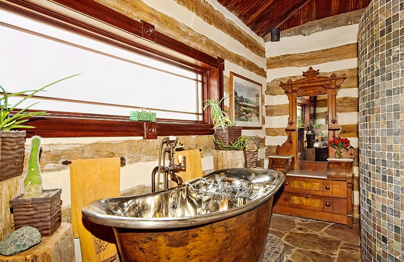 Rental bathroom at Hill Country Premier Lodging.