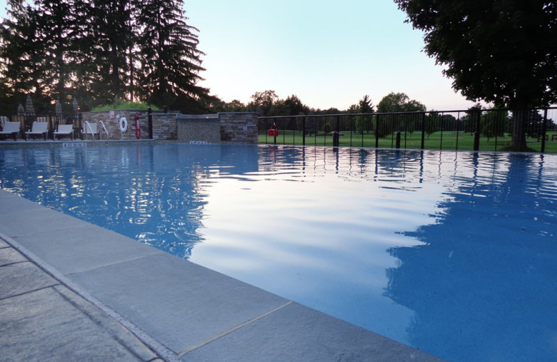 Outdoor pool at Fairway Suites At Peek'n Peak Resort.