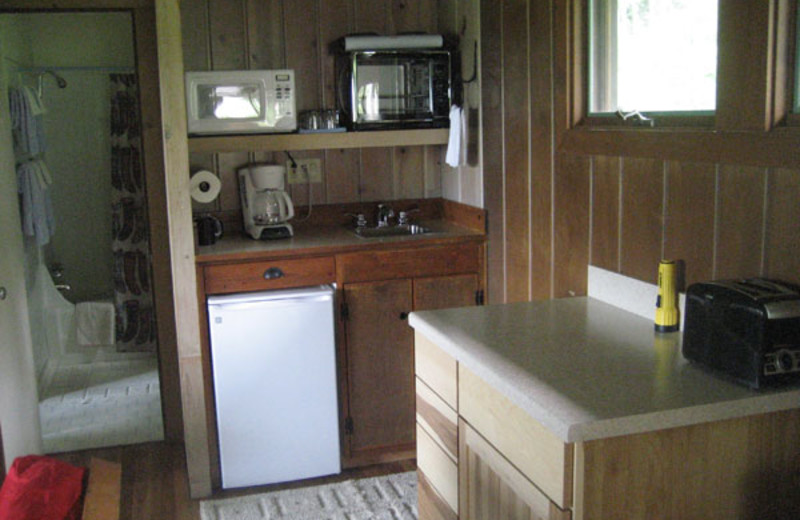 Cabin interior at Trail Creek Ranch.
