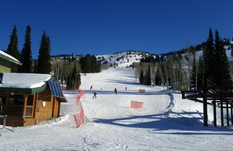 Ski slope at Grand Targhee Resort.