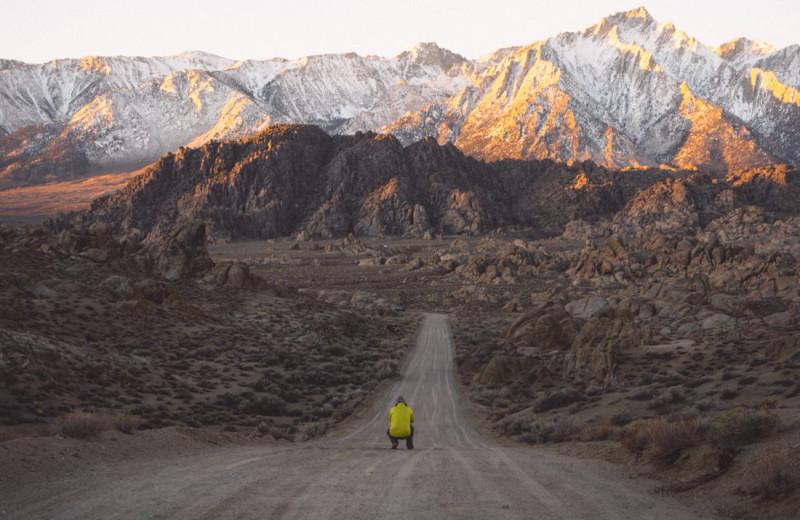Mountains at Escalante Yurts.