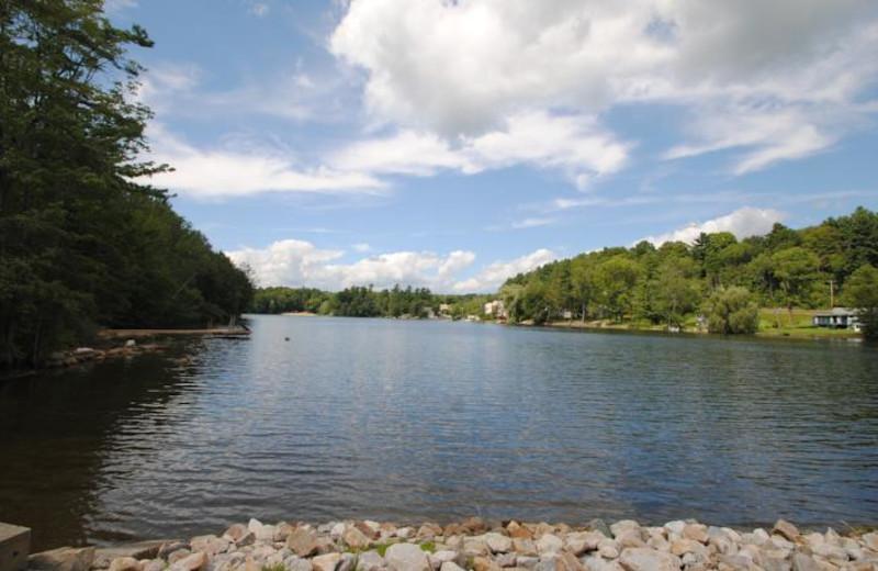 Lake view at Black Swan Inn.