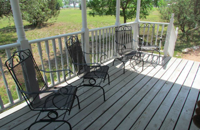 The porch at Runnymede Country Inn.