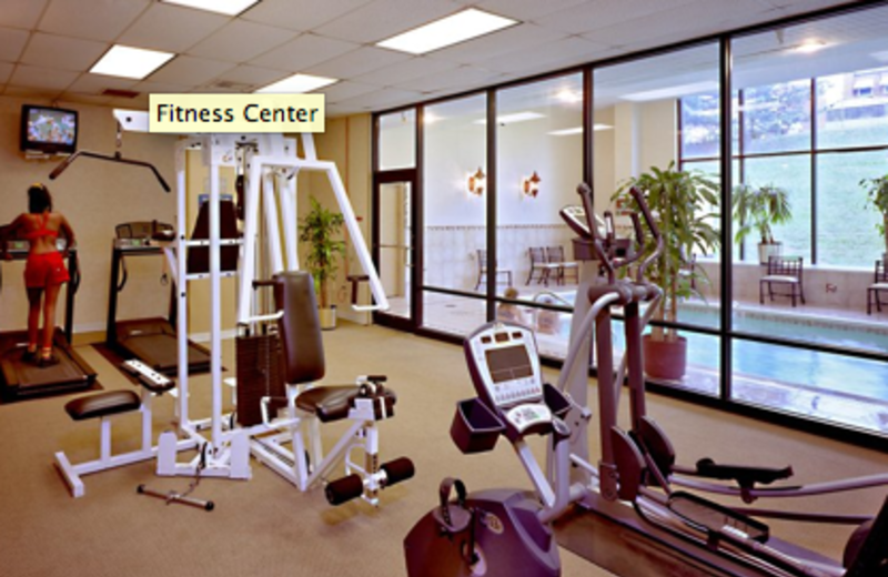 Fitness center and pool at Best Western Baltimore.