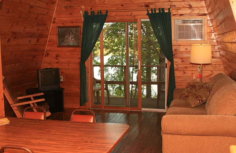 Cabin interior at Little Norway Resort.