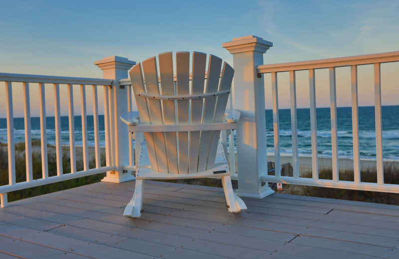 Rental balcony at Vacation Time of Hilton Head Island.