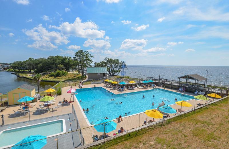 Community pool at Joe Lamb Jr. & Associates Vacation Rentals.