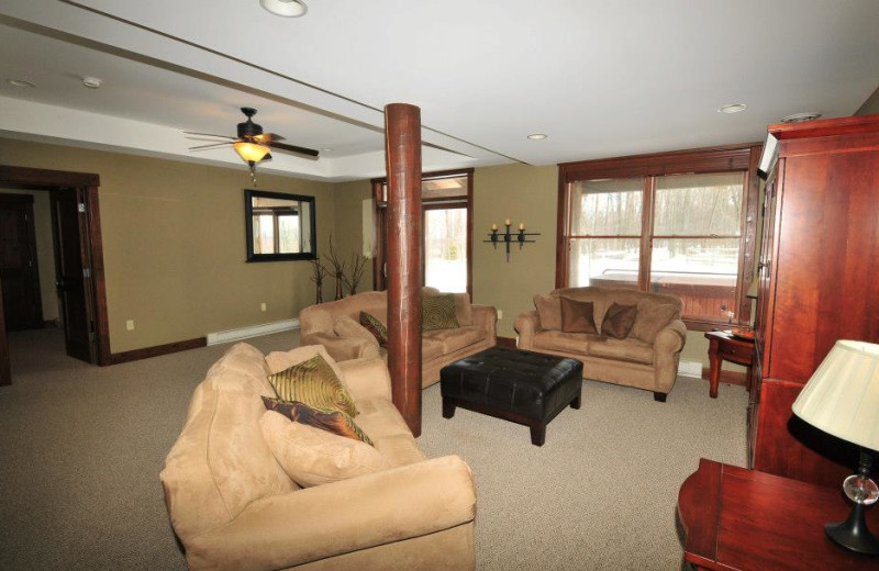 Rental living room at Deep Creek Vacations.