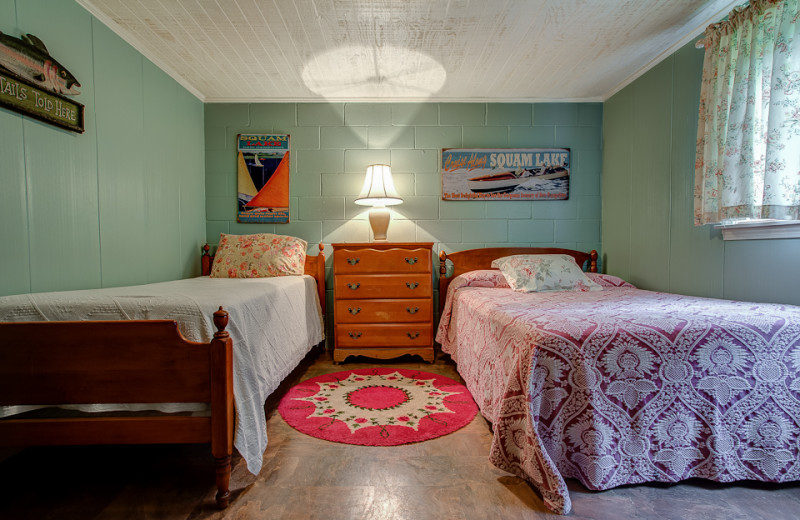 Cottage bedroom at Cottage Place on Squam Lake.