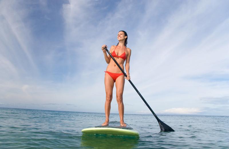 Paddle board rental at Sanibel Vacations.