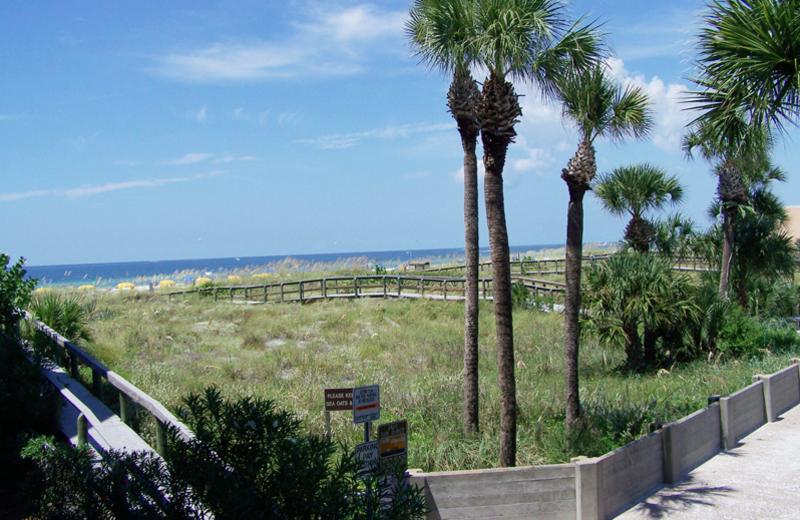 Beach view at Gulf Strand Resort.