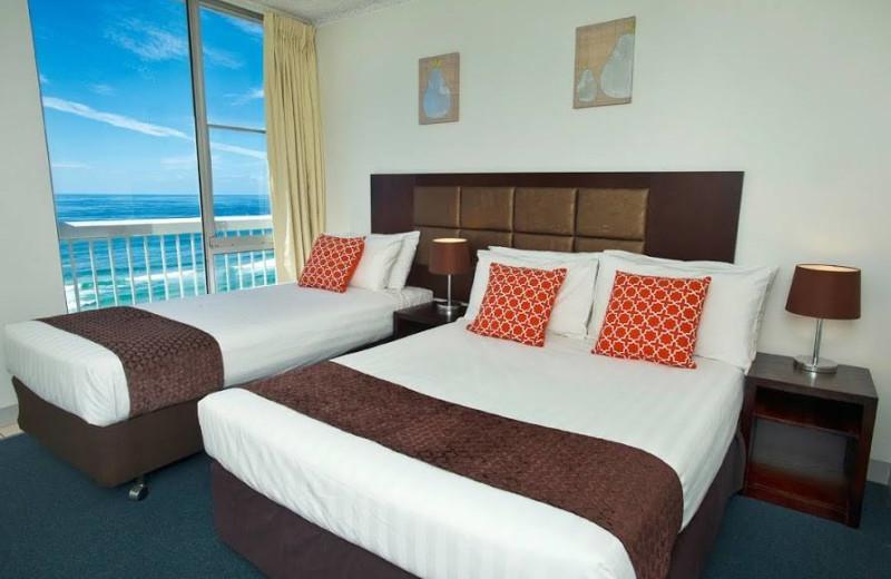Guest room at International Beach Resort.