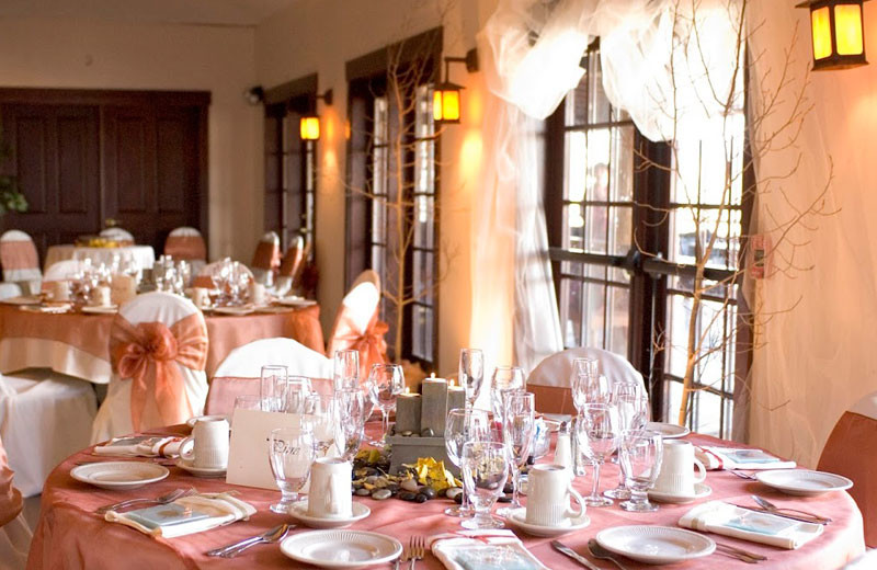 Wedding reception at Marys Lake Vacation Condos.