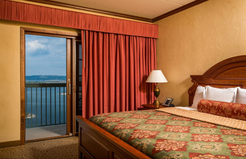 Guest room at Chateau on the Lake.